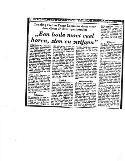 Frans & Piet Lemmens - Valkenburg